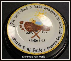 Momma's Fun World: Baby Jesus in a manger kids craft