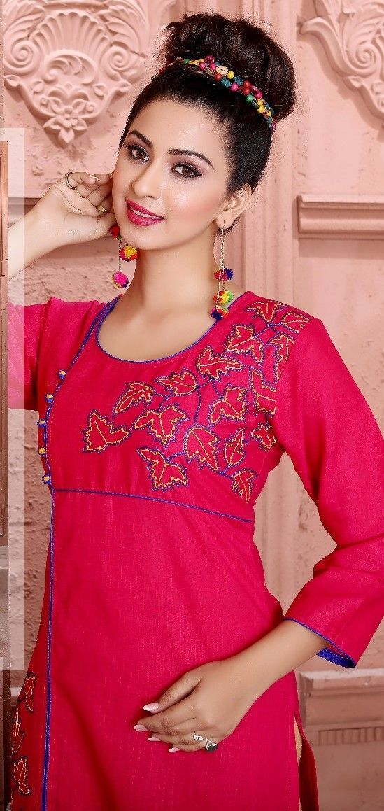 #pink   #georgette #kurti georgette pink Kurtis | trends Kurtis | party wear | pink kurti | red and purple design Kurtis
