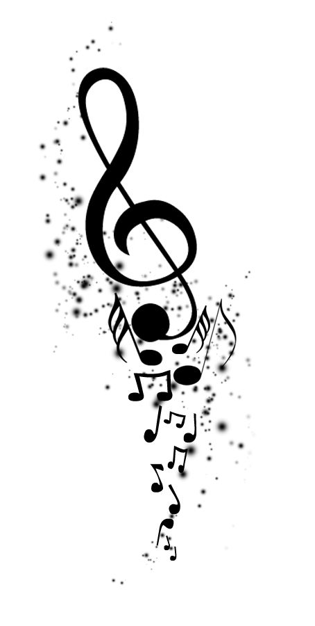 A music tattoo idea. Maybe I'll even design a whole sleeve dedicated to music, since it plays a big part in my life, along with many other things.