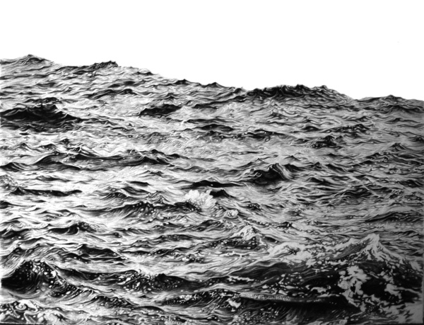 Oceanic: Swell, 2009, Pencil on paper  Sophie Bray