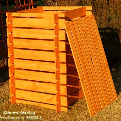 Komposter Holz 1000 L bemalt Kompostbehälter Kompostsilo Kompost NEU mit deckel
