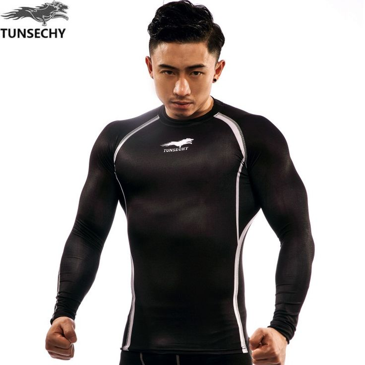 Mens Fitness 3D Prints Long Sleeves T Shirt Men Bodybuilding Skin Tight Compression Shirts MMA Quick Dry Workout Top Shirts