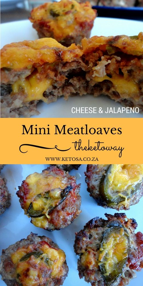 Mini Cheese and Jalapeno Meatloaves