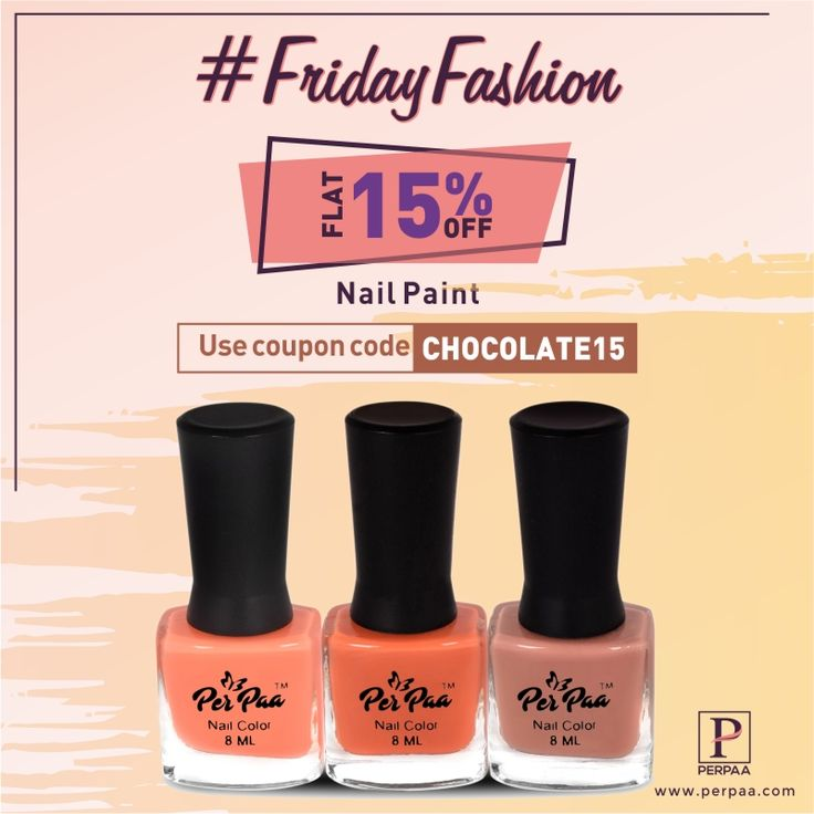 This love week enjoy the offers coming your way. This #FridayFashion paint your nails chocolaty. Shop at perpaa.com and use the coupon code CHOCOLATE15 and get 15% off. #Nail #Women #Fashion #Nailpaint #Nailart #Makeup #Beauty  #Discount #NailTreatments #NailSolutions #NailPolish #NailCare #Perpaa #FridayFashion #CHOCOLATE15