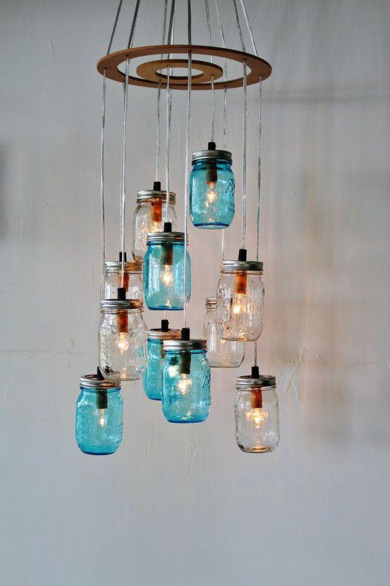Barattolo di vetro Lampadario  apparecchio di illuminazione