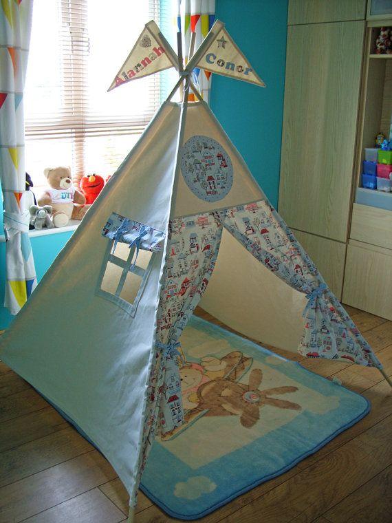 Personalised Teepee City Teepee Teepee Play Tent by TheTeepeeFairy