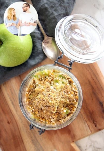 Overnight Oats mit grünem Apfel von Eat this! | Davert GmbH - Naturkost