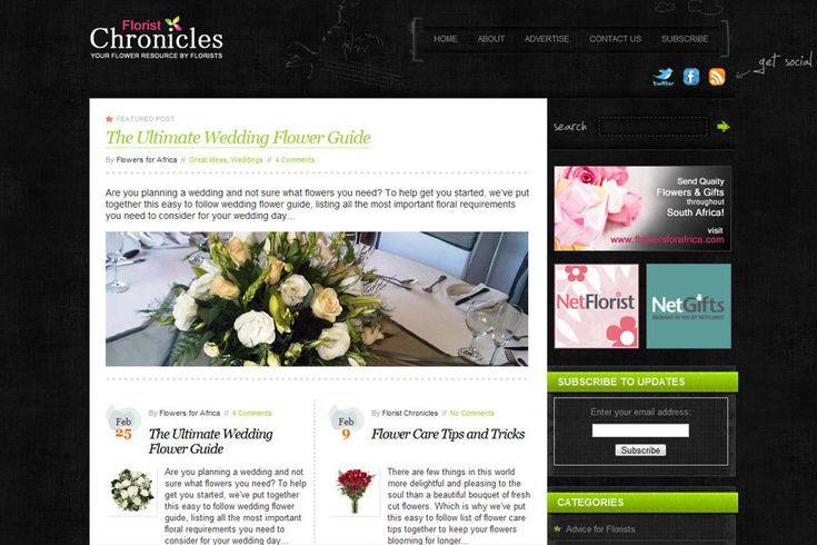 Florist Chronicles: WordPress Project Details by inMotion Graphics