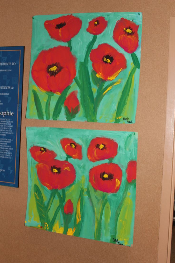 St. George's Student Natalie Clack created these beautiful poppies paintings for Remembrance Day.