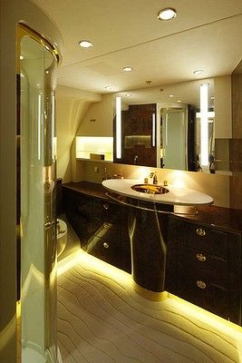 130 best ideas about private luxury jets on pinterest for Private jet bathroom