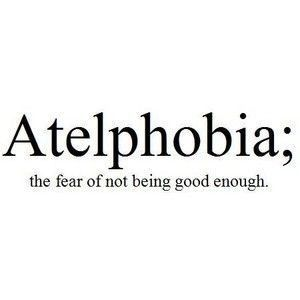 I didn't think that there would be a phobia that 100% describes me. Hm. #truth