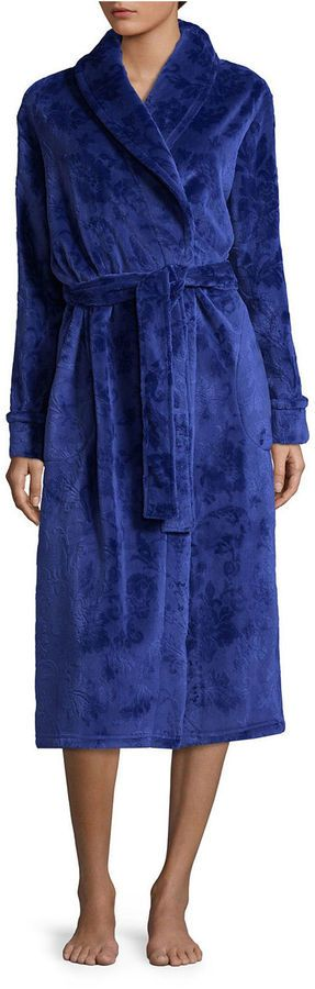 Liz Claiborne Long Sleeve Fleece Robe