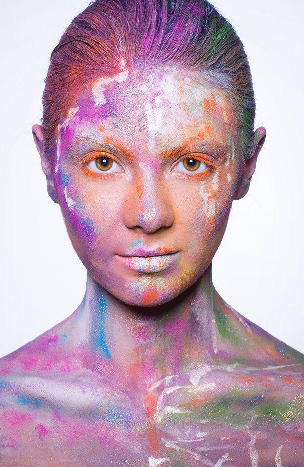 #silvery #gold #glitter #orange #facepaint Published in @ Make-Up Magazine Romania #3-4/14 (09-10) - 6 steps & cover  MUA: Diana Enaiche Photo: Bogdan Dancu Model: Madalina Sinoae