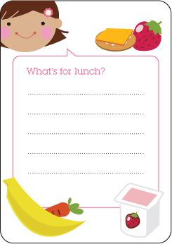 An oldie, but goodie! Free printables for school lunches. via @Jennifer Cooper