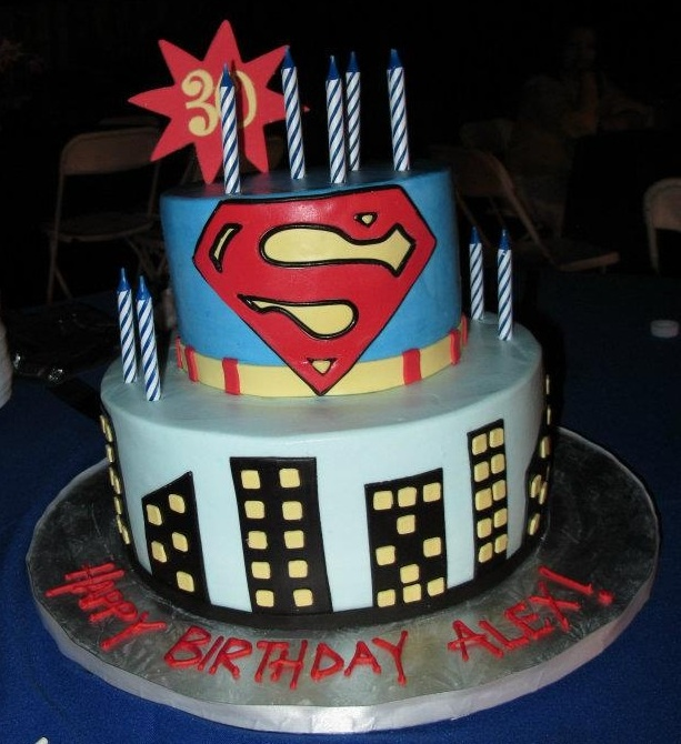 My hubbie's 30th SUPERMAN birthday cake!