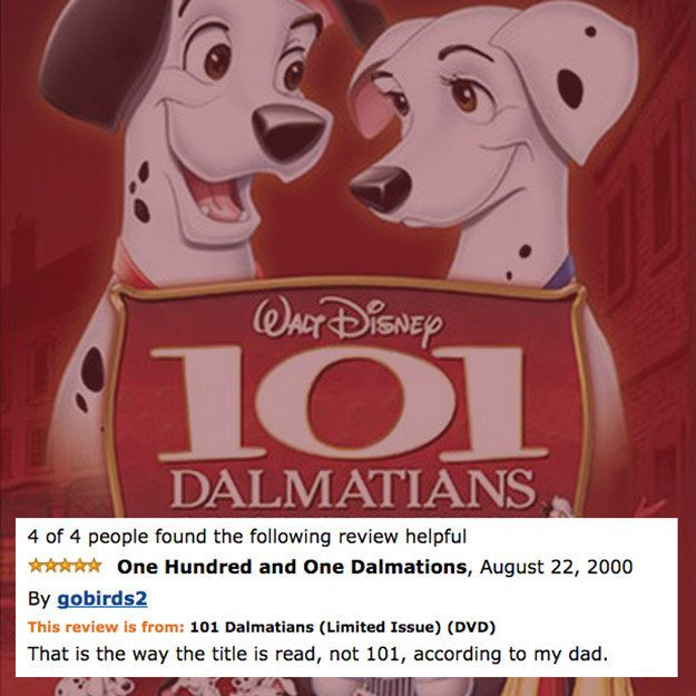 One Hundred and One Dalmatians | 17 Amazon Reviews Of Disney Films That Are Way…