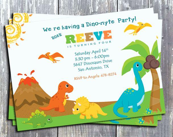 Dinosaur Birthday Invitation Template Inspirational Free Printable Dinosaur Invitations Dinosaur Birthday Party Invitations Birthday Party Invitation Templates