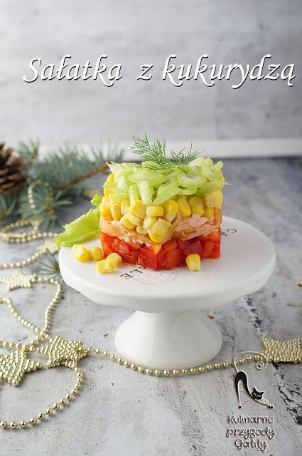 Kulinarne przygody Gatity: Świąteczna sałatka z kukurydzą i łososiem