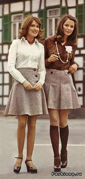 Платья модные 60х 70х годов