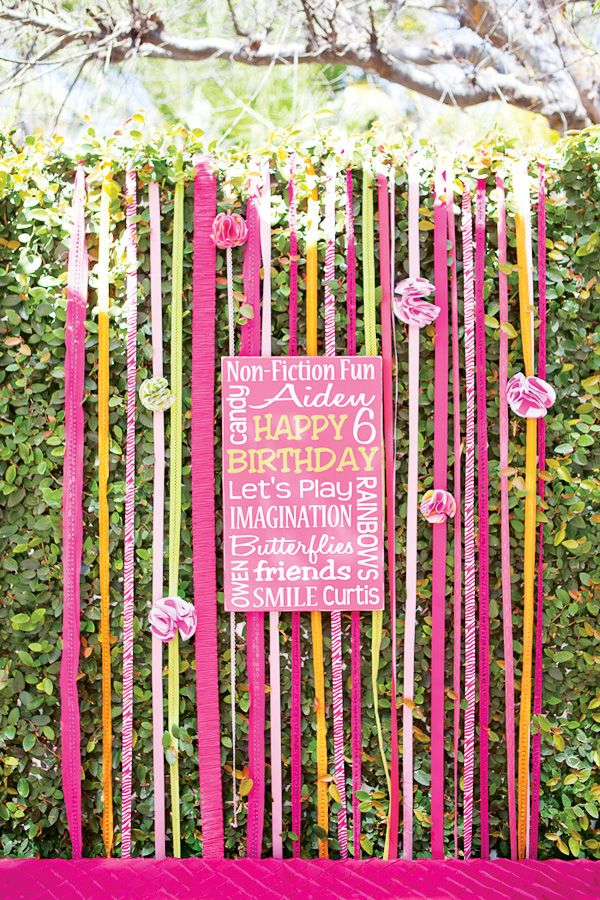 """Darling """"Non Fiction Fun"""" Pink Birthday Party // Hostess with the Mostess®"""