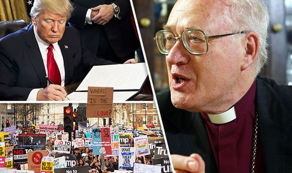 George Carey blasts Trump protesters in London over hysterical attacks on President
