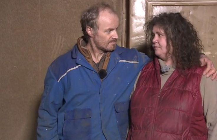"""Das """"Bauer und Frau""""-Paar Norbert und Petra ist geschockt nach einem Feuer auf ihrem Hof."""