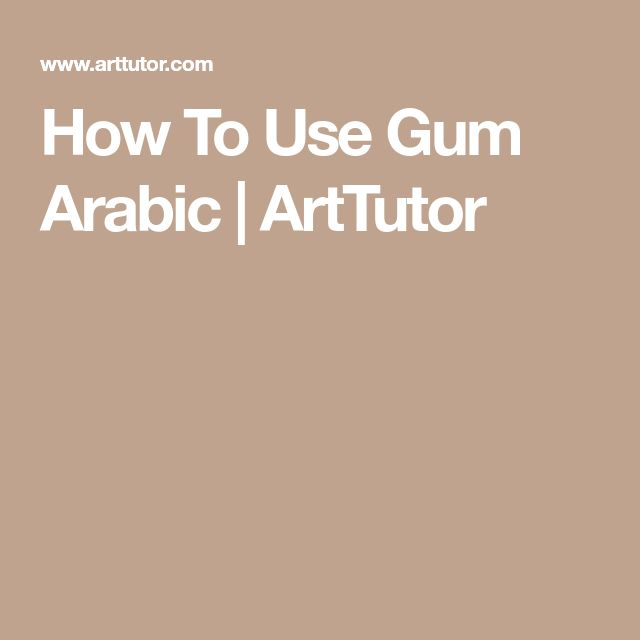 How To Use Gum Arabic | ArtTutor