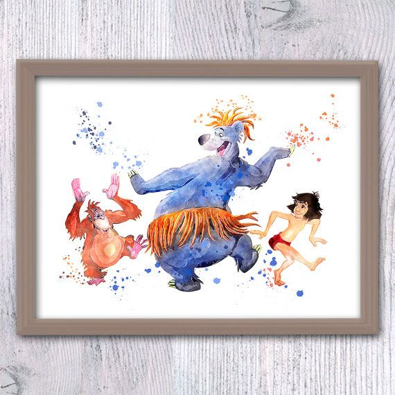 Jungle Book watercolor poster The Jungle Book by ColorfulPoster