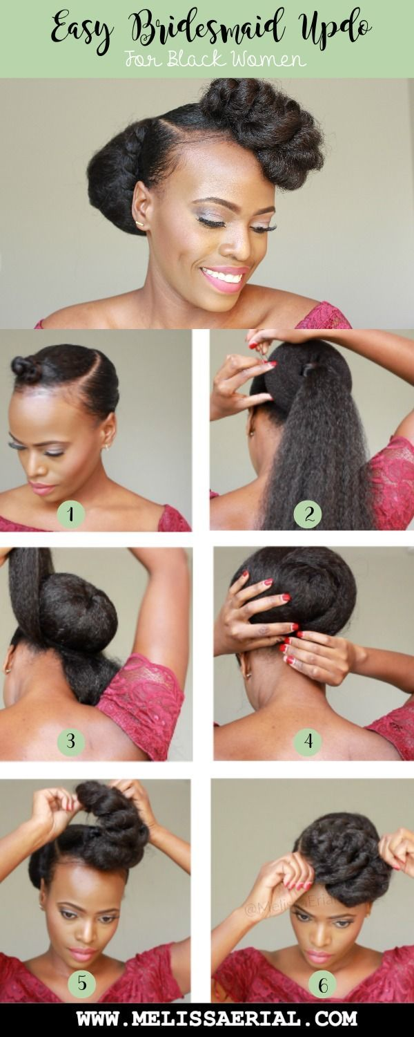 Natural Hair And Protective Styling For Women Of Color Hair Bun And Braiding Hair Updo With Jum Natural Hair Updo Natural Hair Styles Natural Hair Styles Easy