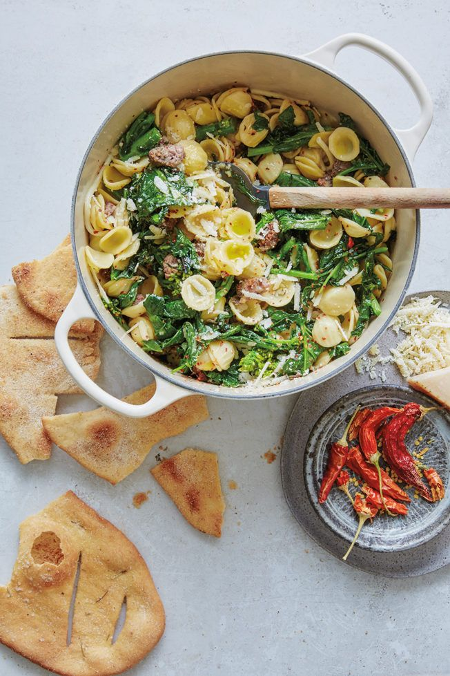 Pasta with Sausage and Broccoli Rabe Recipe | Williams Sonoma Taste