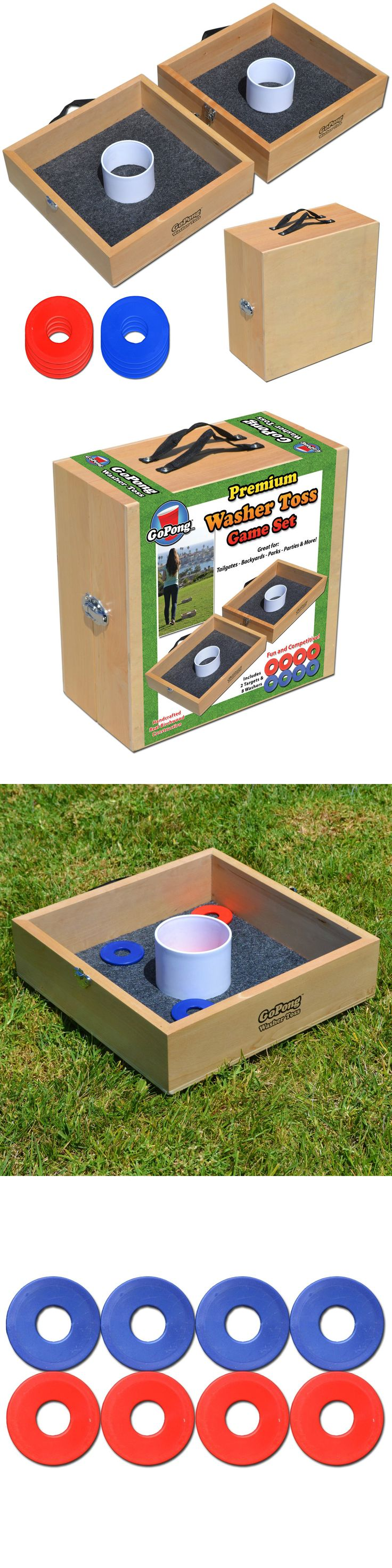other backyard games gosports premium wood washer toss game 2 washer boxes