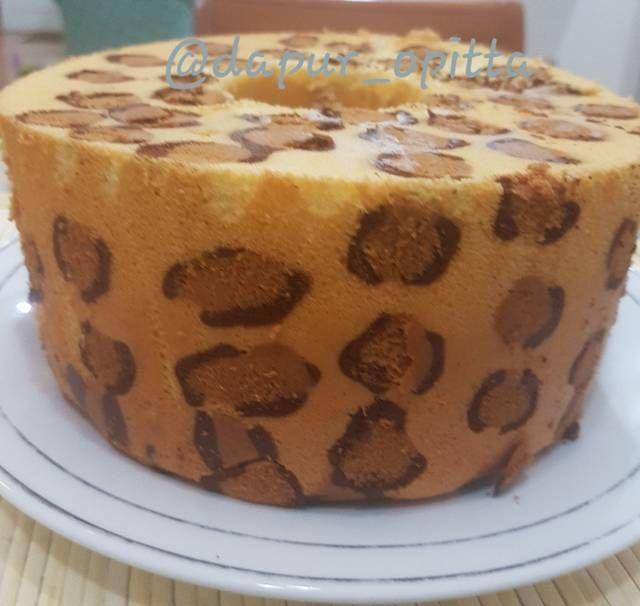 Resep Leopard Chiffon Cake Termasuk Tips Oleh Opitta Resep Kue Chiffon Kue Makanan