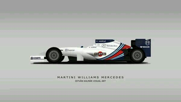Maybe the latest livery ... williams F1 2014