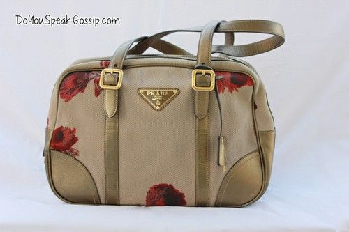 Prada beige and gold flower print bag (second hand) FOR SALE ON MY SHOP. Click on the picture to see more photos and details and shop it now! doyouspeakgossip.tictail.com