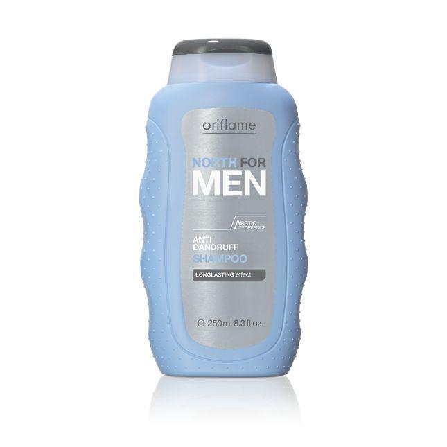Champú Anti-Caspa North For Men. Champú Anti-Caspa reforzado con protección Pro-Artic ayuda a eliminar y prevenir la caspa. Especialmente formulado para fortificar y limpiar el cabello y el cuero cabelludo. Apto para uso frecuente. 250  ml. Código:15537  #oriflame