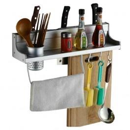 Space Aluminium Multi Function Kitchen Shelves Holder Tool Kitchen  Accessories