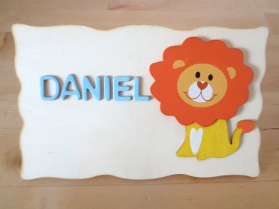 Check out this item in my Etsy shop https://www.etsy.com/uk/listing/478885230/kids-door-sign-lion-personalised-door