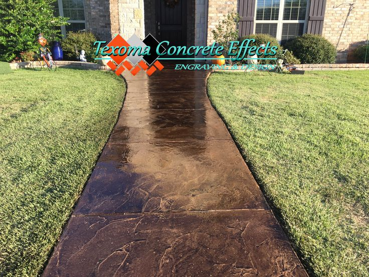 Stained Concrete Overlay by Texoma Concrete Effects