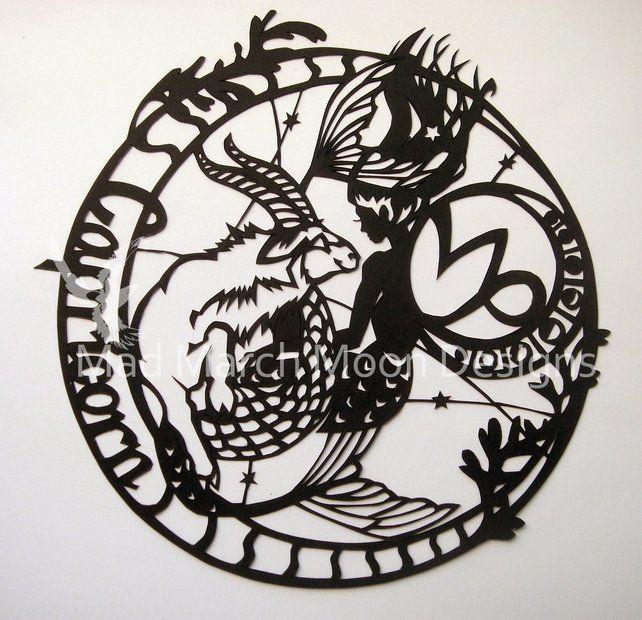 'Capricorn' Zodiac paper Cut £45.00