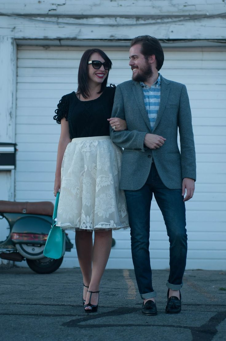 couples style, couples fashion, his and her fashion, ootd, anthropologie ootd, jcrew men, red lipstick