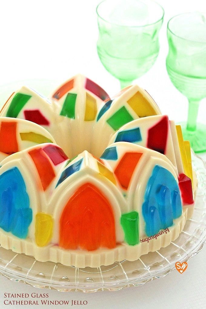 Colorful Stained Glass Cathedral Window Jello Recipe Stained