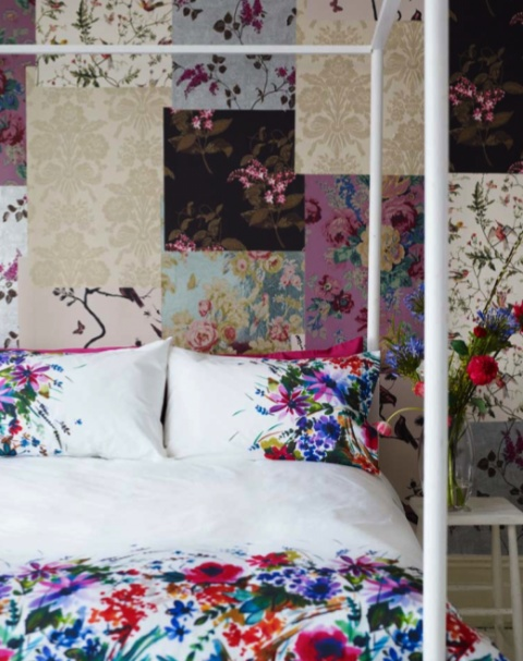 Get Some Free Wallpaper Samples And Redo Feature Wall Patchwork Stylee Decor Beautiful