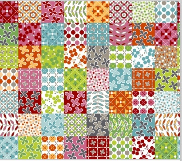 Squares with different patterns ✳
