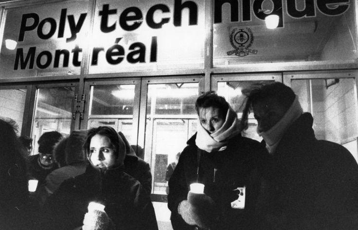 Commémoration de la tuerie de Polytechnique. Le 6décembre 1989 à l'École Polytechnique de Montréal,14 femmes étaient assassinées parce que Femmes. Rassemblement à leurs mémoiresdimanche 6 décemb...