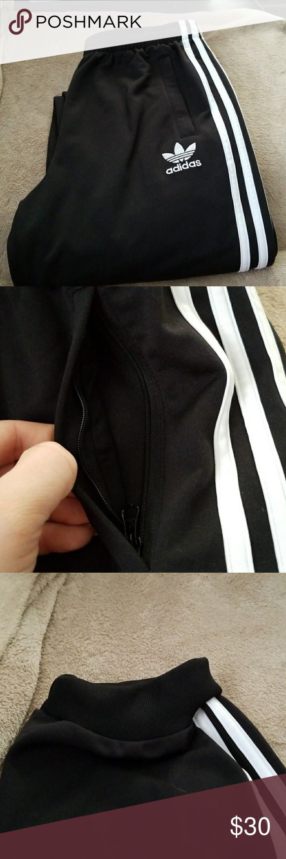 Adidas pants Kids large Adidas pants. I am 5 ft and 150 lbs and they fit me well. NWOT. OBO adidas Bottoms Sweatpants & Joggers