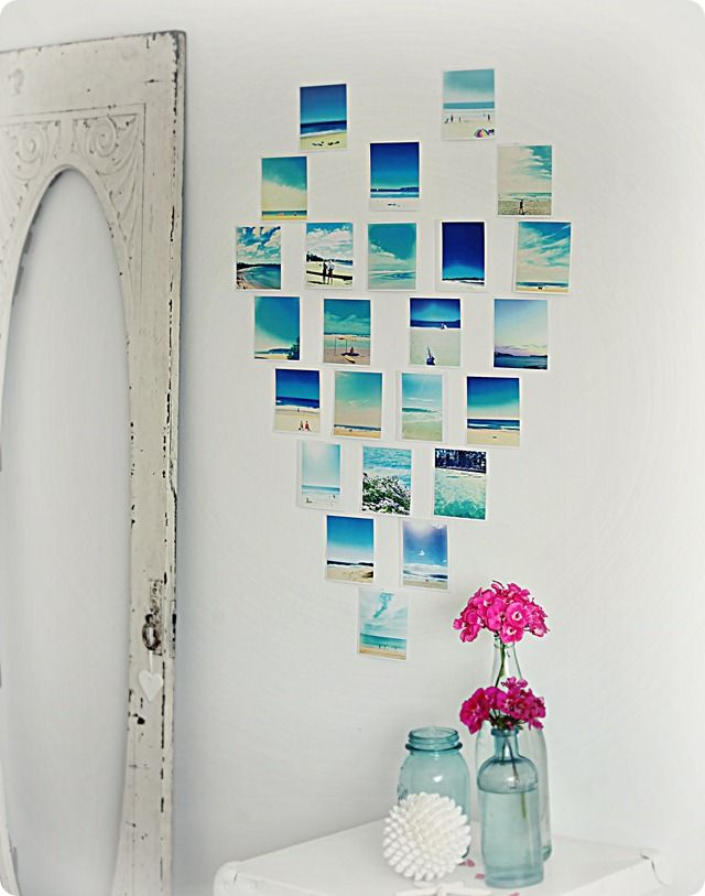 What a great idea! DIY photo collage.