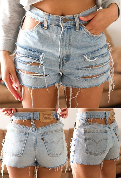 diy jean shorts | Tumblr ... Only Without the top of the shorts cut out lol