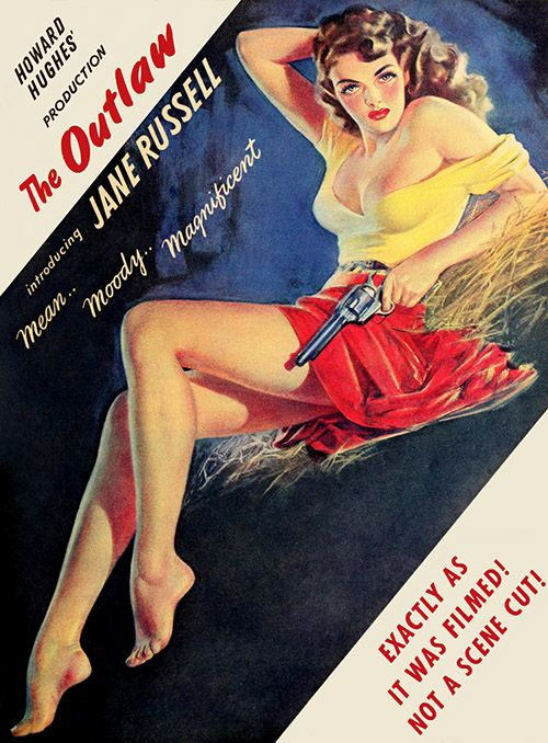 Jane Russell - The Outlaw (1943)  Restored by:  Metek Artwork Production (2016)
