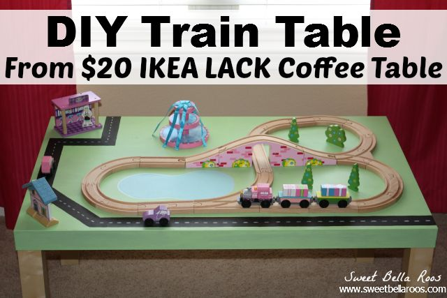 diy train table: ikea hack | lack coffee table, train table and