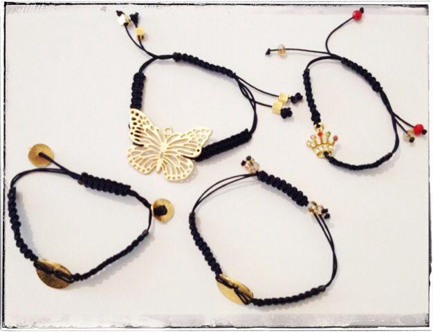 Navy blue macrame bracelets